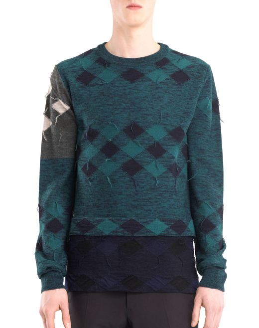 lanvin patchwork sweater men