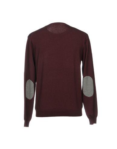 Фото 2 - Мужской свитер SUN 68 красно-коричневого цвета