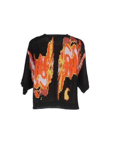 VERSACE COLLECTION Damen Pullover Schwarz Größe 32 43% Viskose 32% Baumwolle 15% Polyester 10% Polyamid