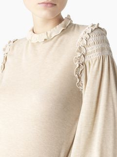 Long-sleeved frill top