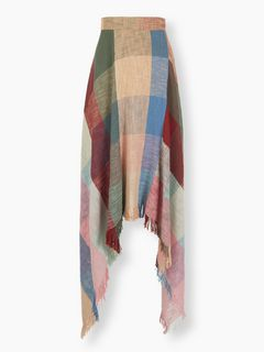 Colourful check skirt