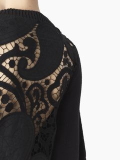 Lace-back sweater