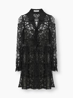 Collared lace dress
