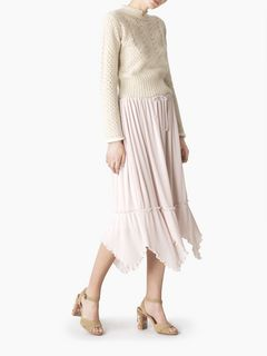Embellished pleated skirt
