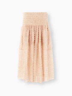 Lace ribbon skirt