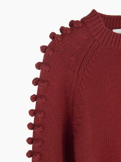 Bobble knit sweater