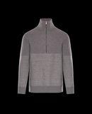 MONCLER ZIPPED MOCK TURTLENECK - Sweaters - men
