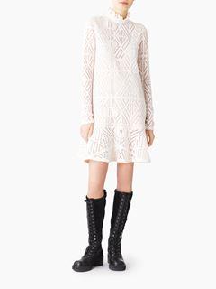 Lacy jersey dress