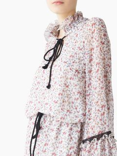 """All-over roses"" printed blouse"