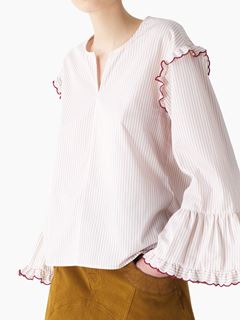 Striped shirting blouse