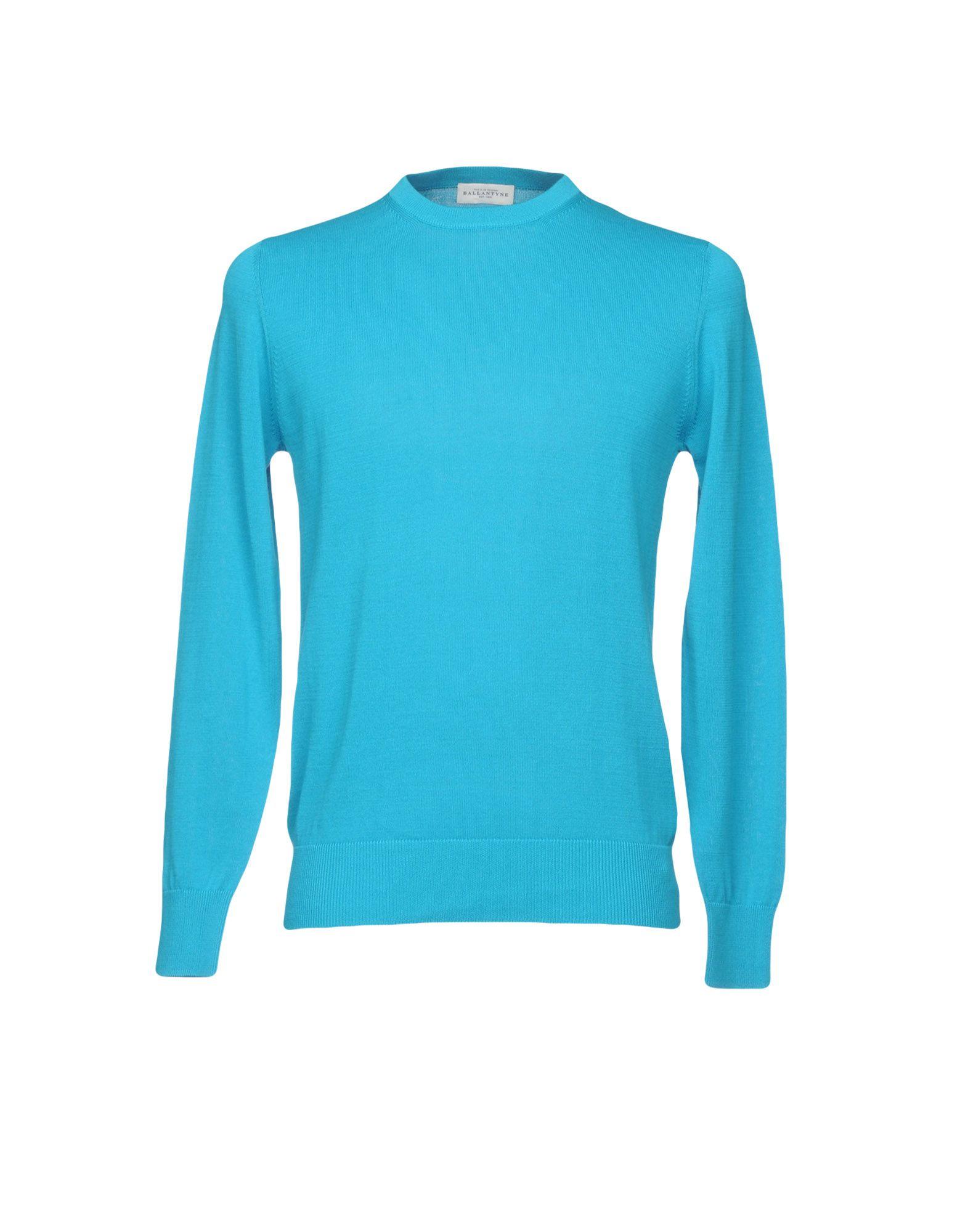 《セール開催中》BALLANTYNE メンズ プルオーバー ターコイズブルー 52 コットン 100%