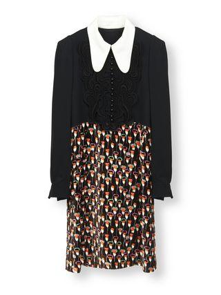 Butterfly collar dress