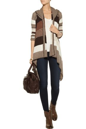 LINE Shelby striped cashmere cardigan