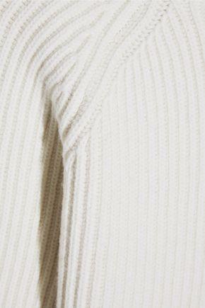 HAIDER ACKERMANN Cropped ribbed wool turtleneck sweater