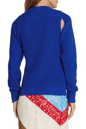 PREEN by THORNTON BREGAZZI Sofie crystal-embellished cutout cotton sweater