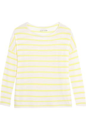 ALICE + OLIVIA Efren striped cashmere sweater