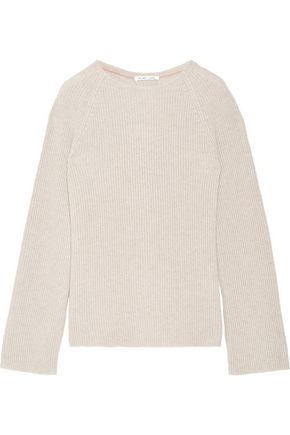 HELMUT LANG Open-back cotton and cashmere-blend sweater