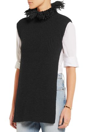 VALENTINO Backless fringed wool tunic