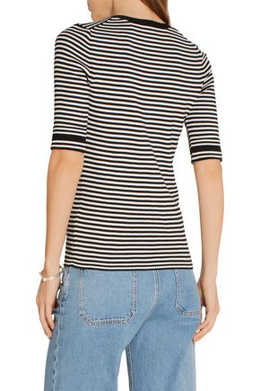 MARC JACOBS Pussy-bow striped cotton sweater
