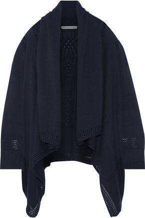 COTTON by AUTUMN CASHMERE Draped open-knit cotton cardigan
