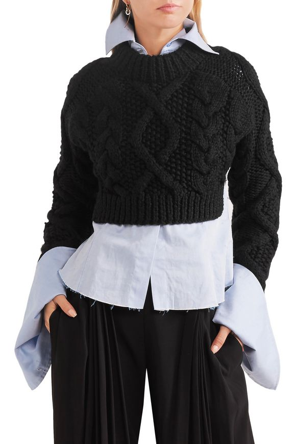 Open-back cable-knit merino wool sweater | DKNY | Sale up to 70% off | THE  OUTNET