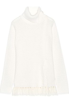 PROENZA SCHOULER Tasseled wool-blend turtleneck sweater