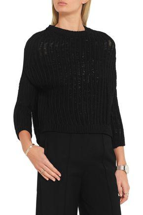 RICK OWENS Open-knit cotton-blend sweater