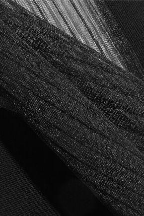 MAISON MARGIELA Paneled ribbed wool-blend sweater