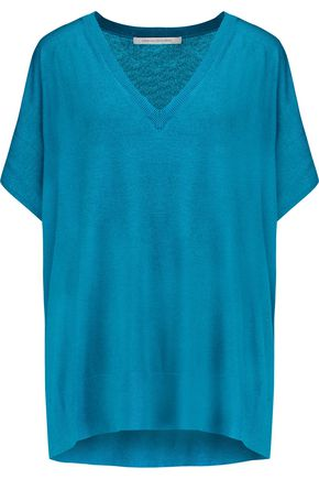 DIANE VON FURSTENBERG Honey silk and cashmere-blend top
