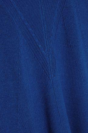 DIANE VON FURSTENBERG Ribbed merino wool and silk-blend sweater