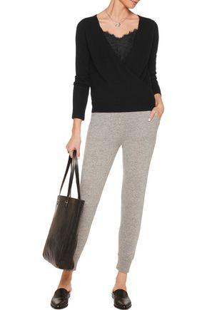 MADELEINE THOMPSON Denton wrap-effect cashmere sweater
