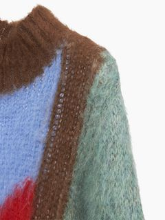グラフィックセーター