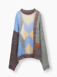 ルーズグラフィックセーター
