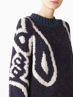 Long bouclette sweater
