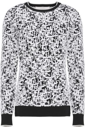 JASON WU Rib-trimmed intarsia stretch-knit sweater