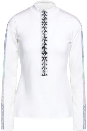 PETER PILOTTO Stretch knit-trimmed wool-blend top