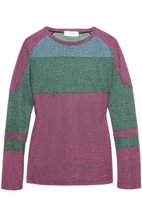CARVEN Metallic knitted sweater
