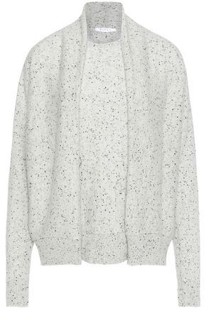 DUFFY Gathered marled cashmere sweater