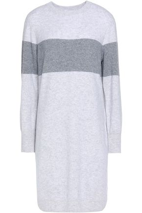 DUFFY Two-tone cashmere dress