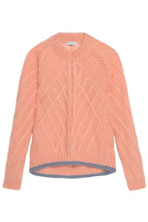 VIONNET Cable-knit mohair-blend sweater