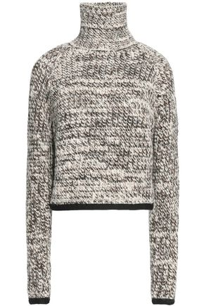 CARVEN Mélange chunky-knit turtleneck sweater