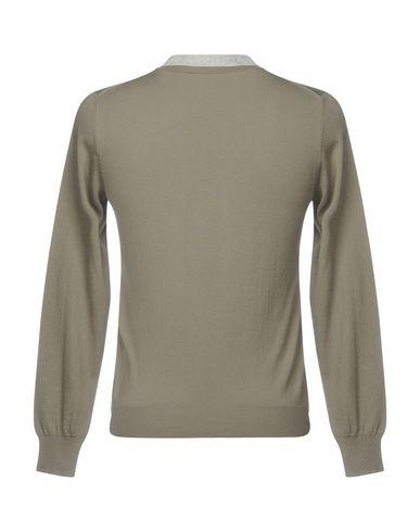 Фото 2 - Мужской свитер PAOLO PECORA цвет зеленый-милитари