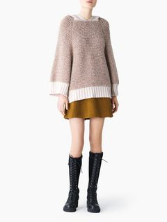 Bouclette hooded sweater