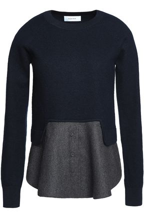 CARVEN Layered wool sweater