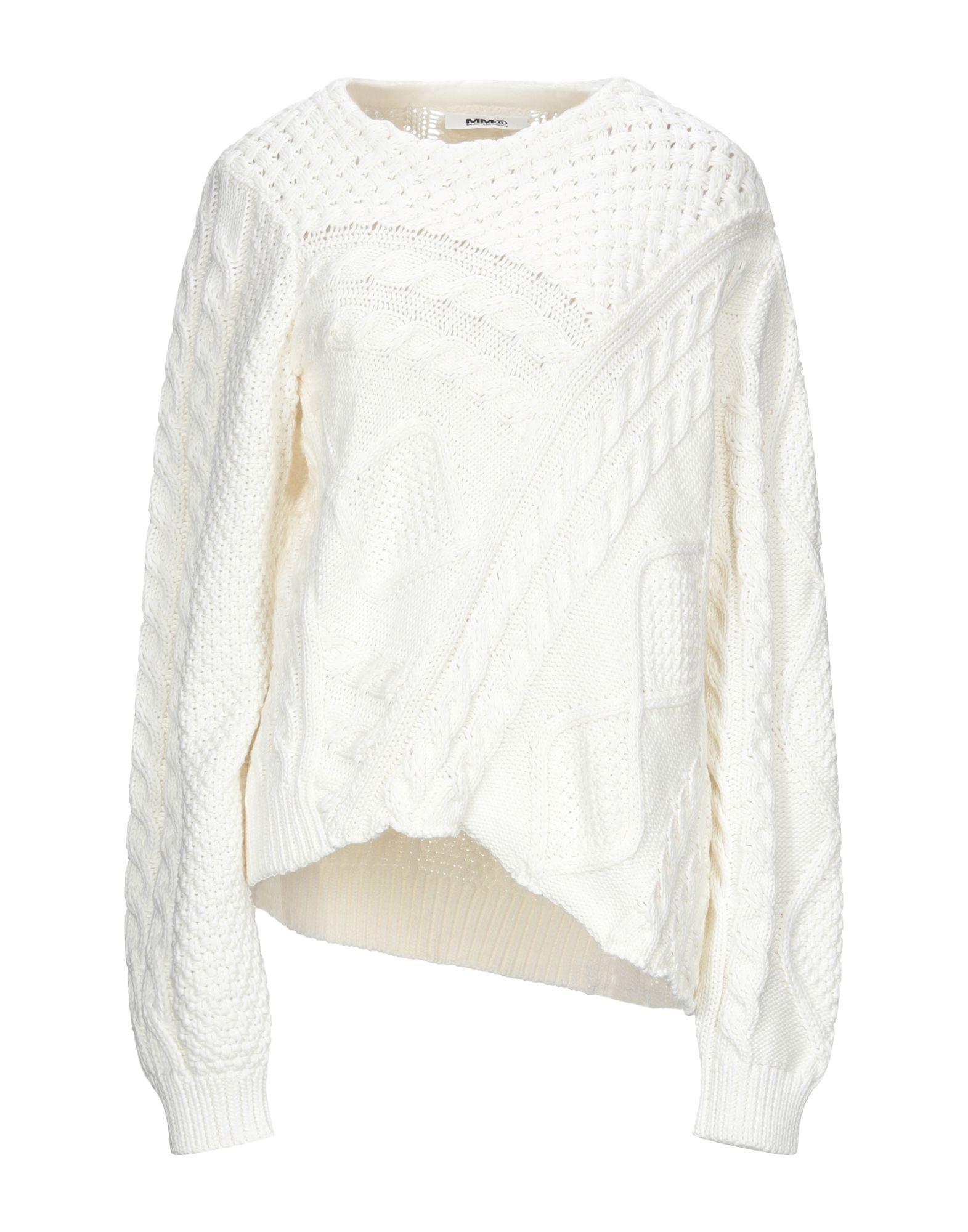 MM6 MAISON MARGIELA Damen Pullover Farbe Weiß Größe 7