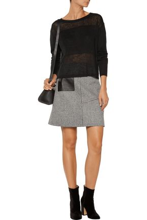 ALICE + OLIVIA Andora split-back linen sweater