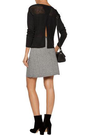 ALICE + OLIVIA Andora split-back linen sweater