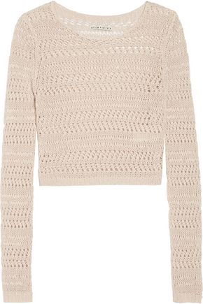 ALICE + OLIVIA Irving open-knit linen sweater