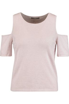TART Sophia cold-shoulder cotton and cashmere-blend sweater