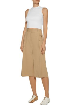 A.L.C. Matthew cropped ribbed jersey top